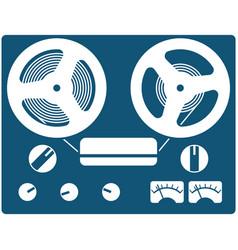 retro bobbin reel-to-reel tape recorder vector image