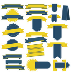 retro ribbons and badges vector image