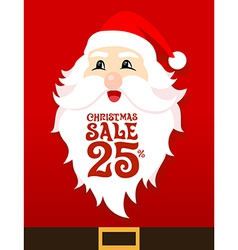 Santa Card Sale vector image