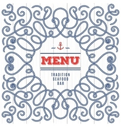 Seafood Menu modern idea Elegant frame with marine vector