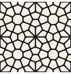 Seamless Black and White Mosaic Lattice vector