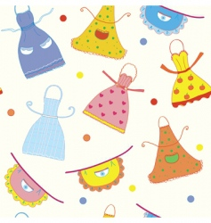 Seamless pattern with apron vector