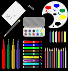 Set of drawing tools vector image vector image