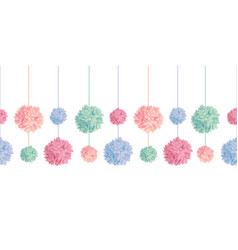 Set of hanging pastel colorful birthday vector