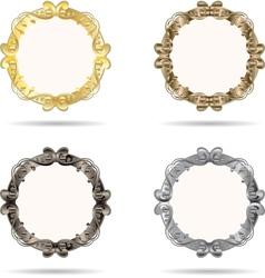 Set of metal frame vector