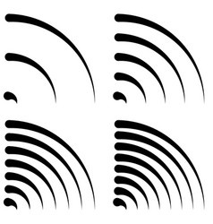signal shapes generic quarter circles bent lines vector image