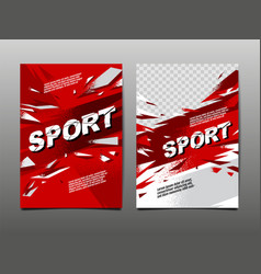 sport layout template design abstract vector image