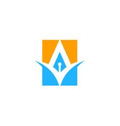 square abstract shape company logo vector image