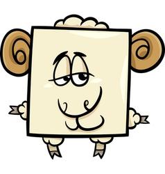 Square ram cartoon vector