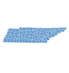State map of Tennessee by counties vector image