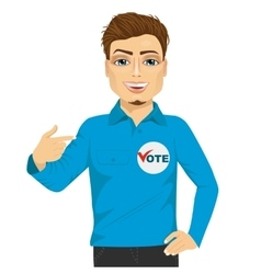 student council candidate promoting himself vector image