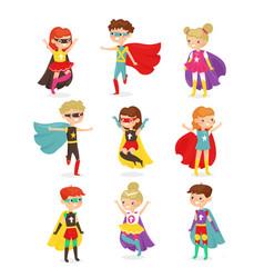 super hero children kids vector image
