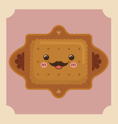 Sweet dessert cartoon vector