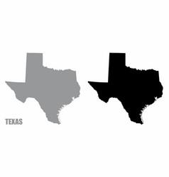 Texas silhouette maps vector