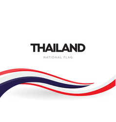 thai national waving flag banner kingdom of vector image