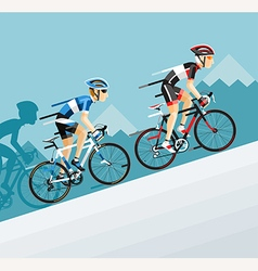 the group cyclists man in road bicycle racing vector image
