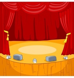 Theater Stage Cartoon vector