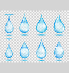 transparent light blue drops vector image