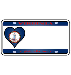 Virginia license plate vector