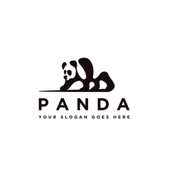 walking panda logo icon template vector image