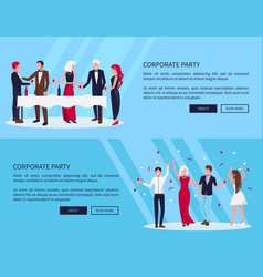 web page corporate party on vector image