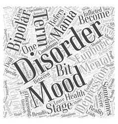 What is a mood disorder word cloud concept vector