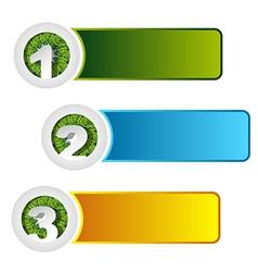 1 2 3 grass option banner vector image