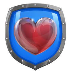 heart shield concept vector image vector image