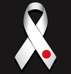 Ribbon for Japan vector image