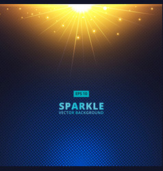 sparkle sunbeam on halftone vector image vector image