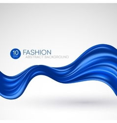 Blue flying silk fabric Fashion background vector image vector image