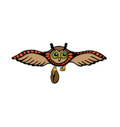 colored logo with owl vector image