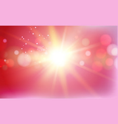 flash of red light sparkle vector image