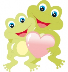 frogs with heart vector image vector image