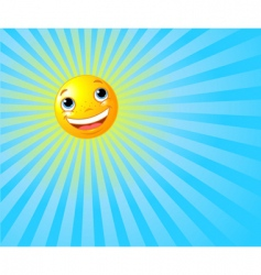 happy smiling sun summer background vector image vector image