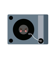 kawaii music dj party turntable technology vector image