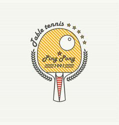 Logo league table tennis ping pong vector