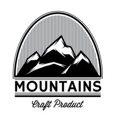 monochrome pattern of mountain tops from lines vector image vector image