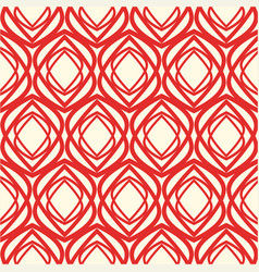 Red and white kaleidoscope seamless pattern vector