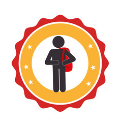 Student avatar silhouette icon vector