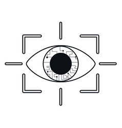 eye virtual reality concept thin line vector image