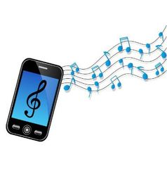 phone sound vector image vector image