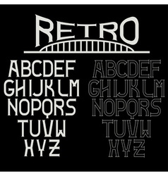 retro alphabet for labels vector image