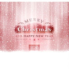 Silver red Merry Christmas typography vector image vector image
