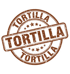 tortilla stamp vector image vector image