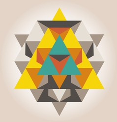 unique geometrical design vector image vector image