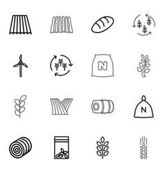 16 grain icons vector