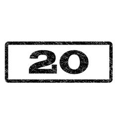 20 watermark stamp vector