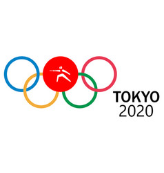 2020 summer olympics game in tokyo vector image