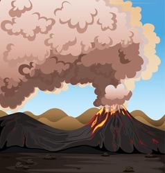 a volcano vector image